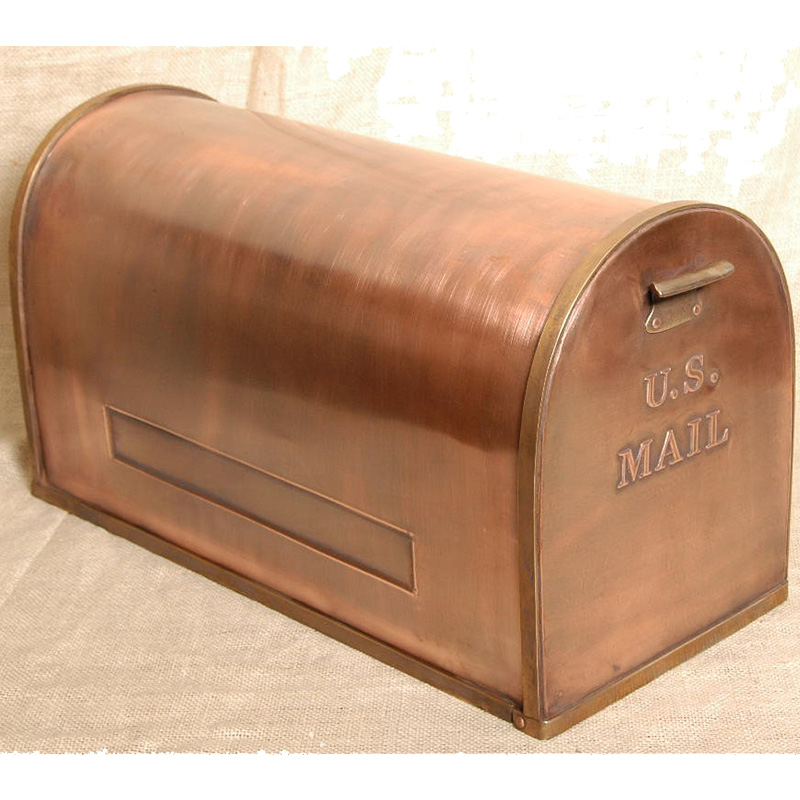 Copper Mailbox US (with optional flag)